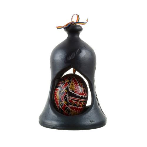 clopot-din-ceramica-neagra-de-marginea-cu-ou-incondeiat-manual